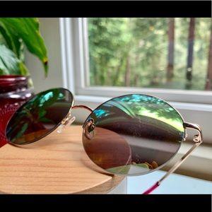 Round Sunnies- iridescent reflective lenses